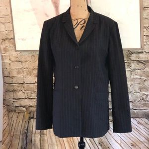 EUC Tahari 3 button suit jacket pinstripe 12